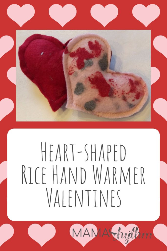 DIY Heart-shaped Rice Hand Warmers