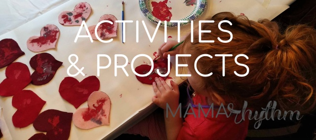 Mama Rhythm Blog has activities, projects, and crafts you can do with your child.
