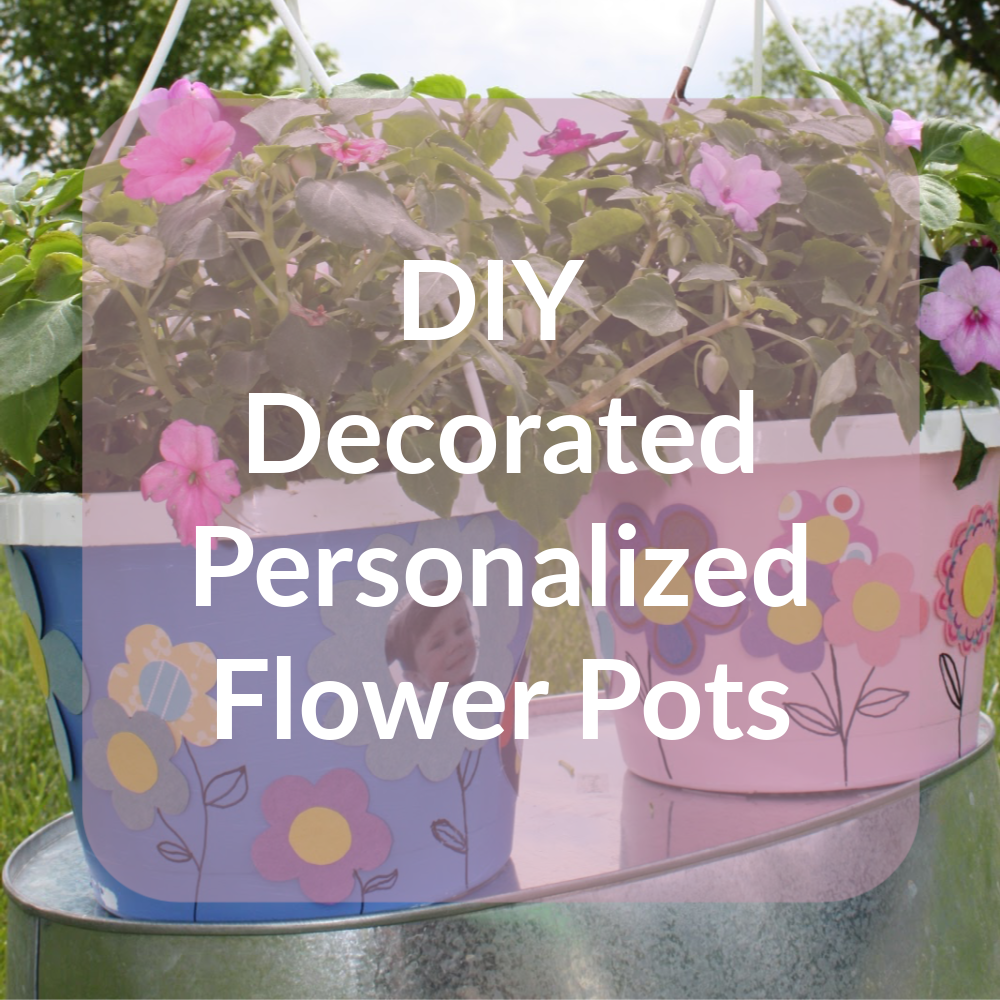 Click here to see how to make quick and easy decorated, personalized flower pots for Mother's Day, birthdays, or teacher appreciation.